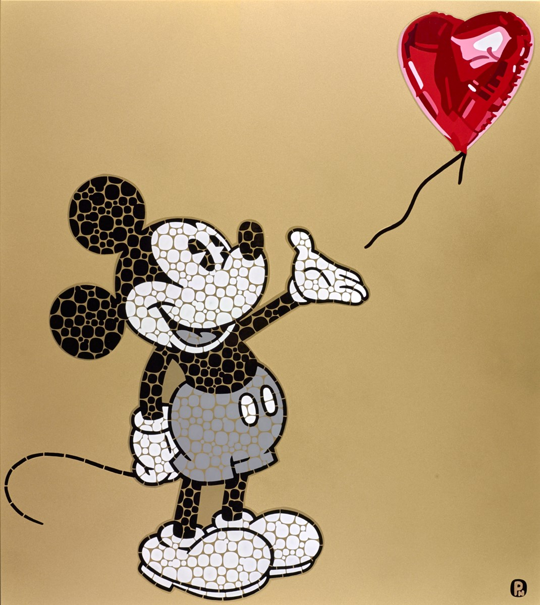 Mickey With Balloon by paul normansell -  sized 23x26 inches. Available from Whitewall Galleries